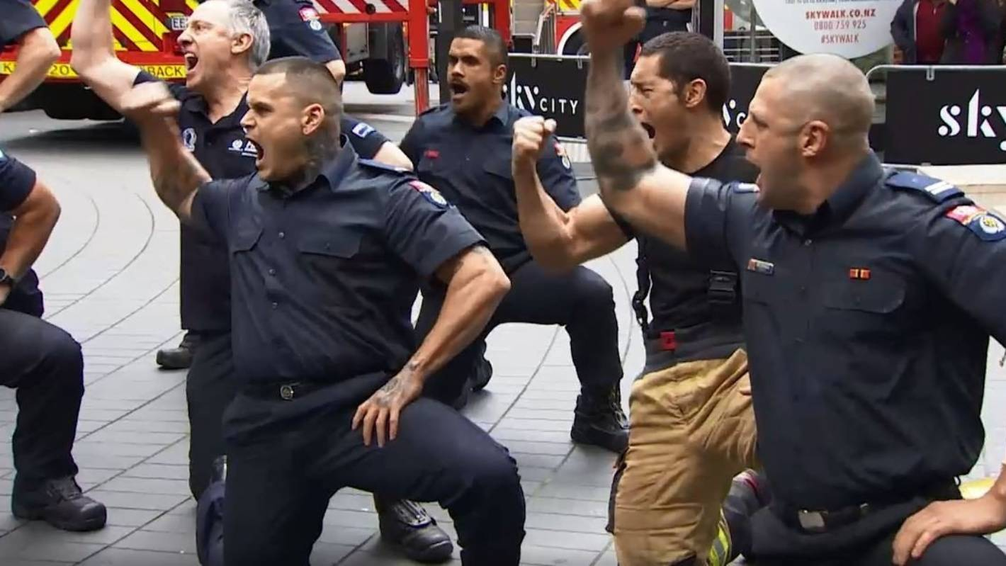 What a haka: Kiwi firefighters honour fallen colleagues at 9/11 commemoration