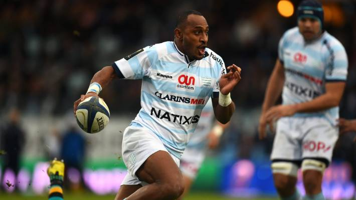 Rokocoko in action for Racing 92 against Northampton Saints in a European Rugby Champions Cup match in 2015.