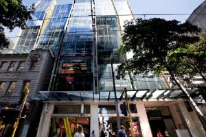 The Spark building in downtown Wellington sold for $197.5m in 2018 to syndicators Mitchell Mackersy which raised part of ...