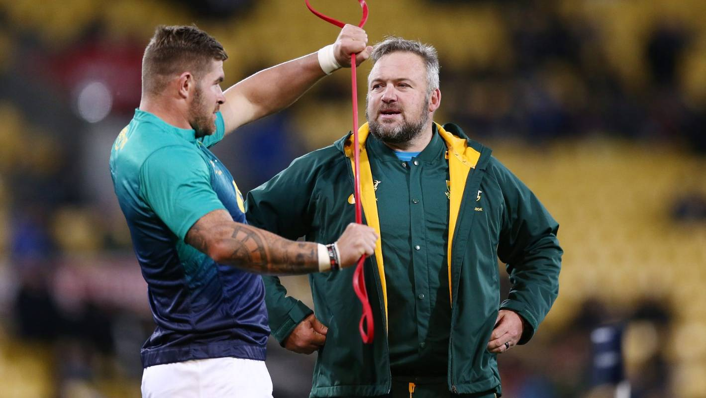 Rugby World Cup: South Africa coach denies Springboks doping crisis