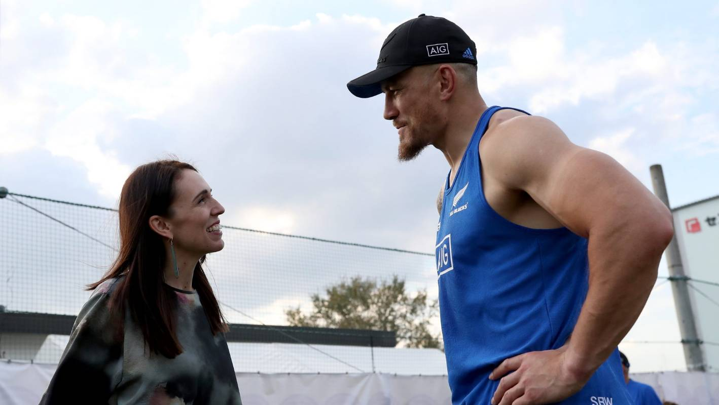 New Zealand PM Jacinda Ardern meets All Blacks at rugby World Cup