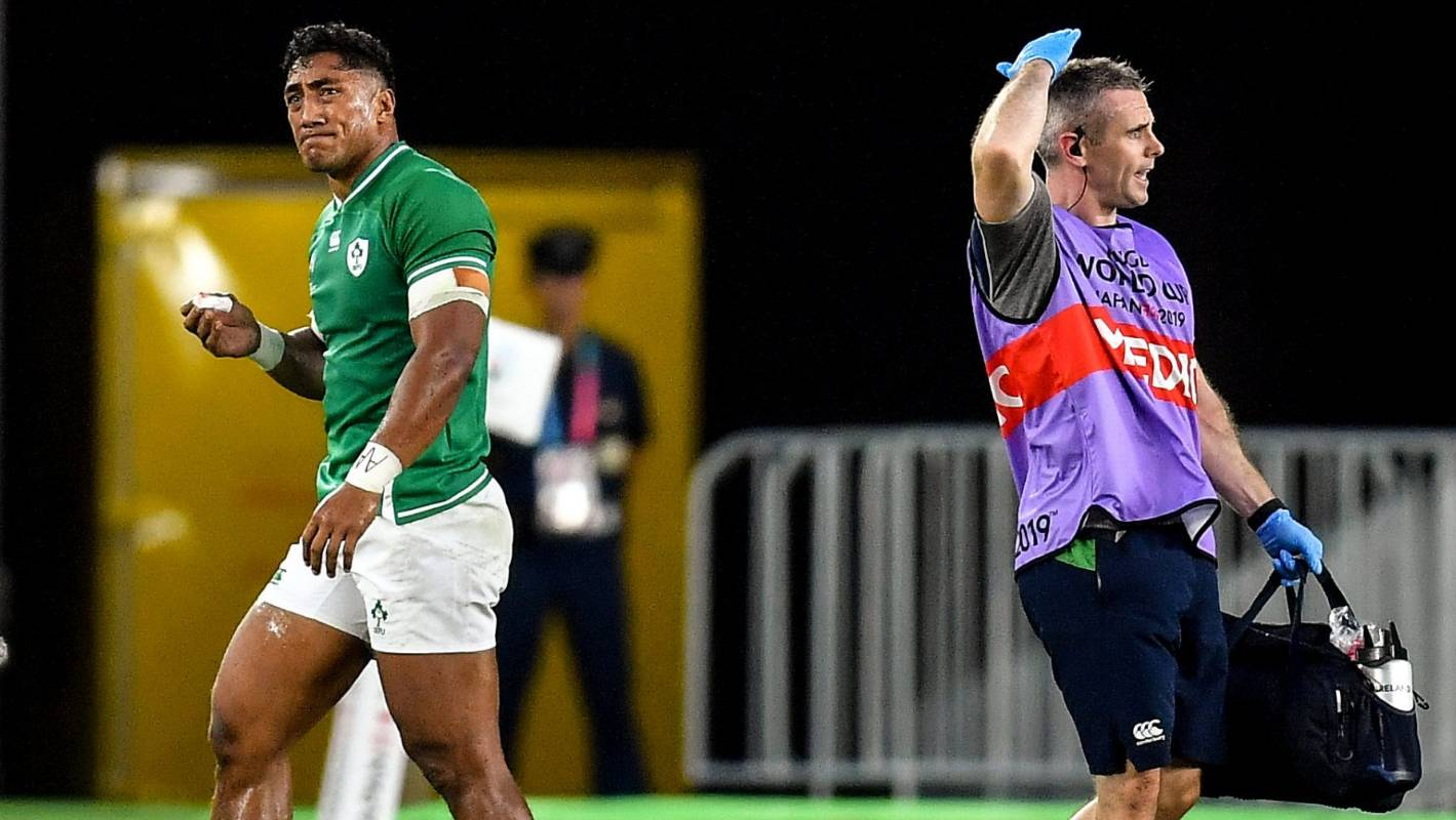 Rugby World Cup: Bundee Aki in doubt for Ireland's next match after head knock