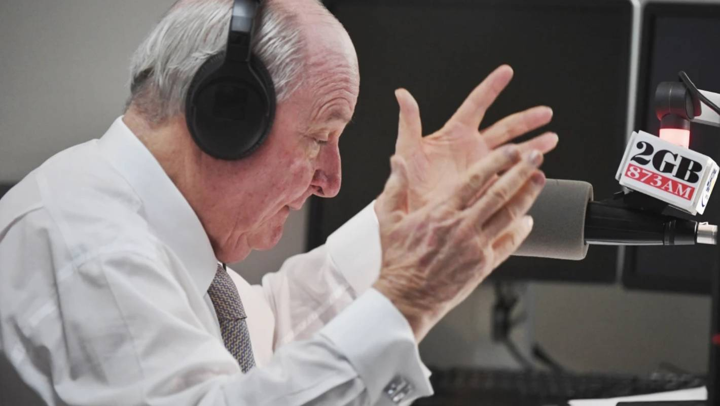 'Here comes the ogre': In the studio with Australian shock jock Alan Jones