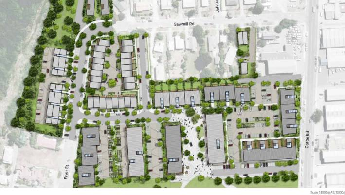 A masterplan for the Ngāi Tahu Tahuna housing development in central Queenstown.