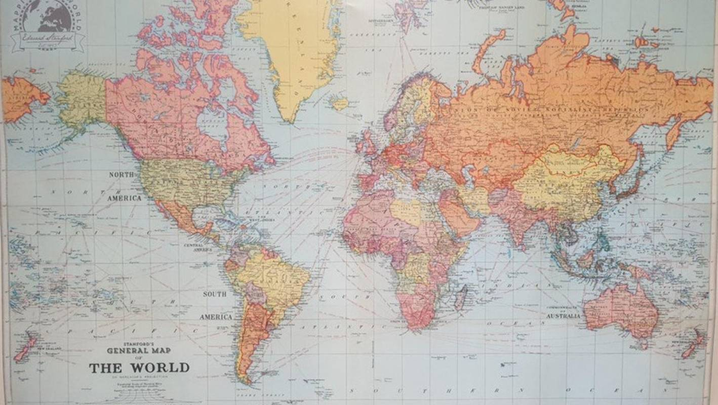 Double trouble: New Zealand appears twice on a world map ...