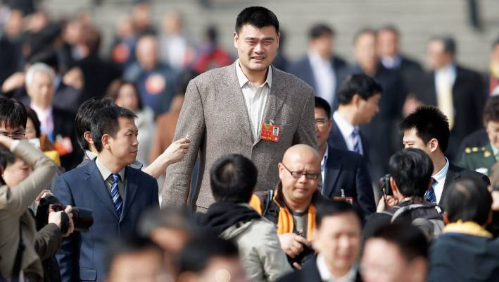 Former NBA player Yao Ming is literally one of the biggest stars in China.