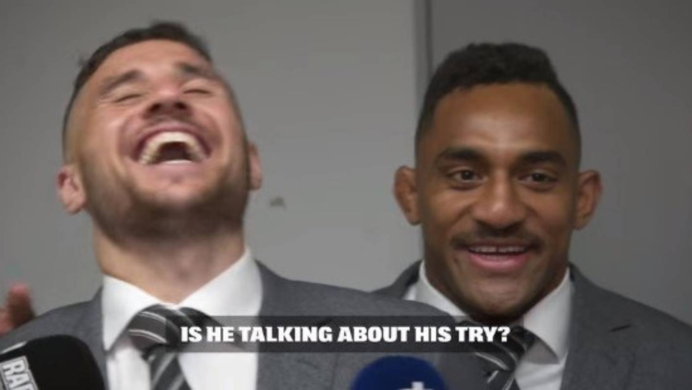 All Blacks tease TJ Perenara over stunning try: 'We haven't heard the end of it'
