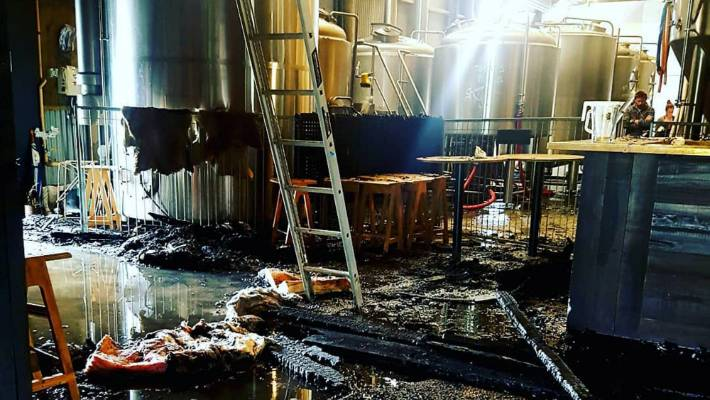 Extensive' damage to Sawmill Brewery, Matakana, sees it