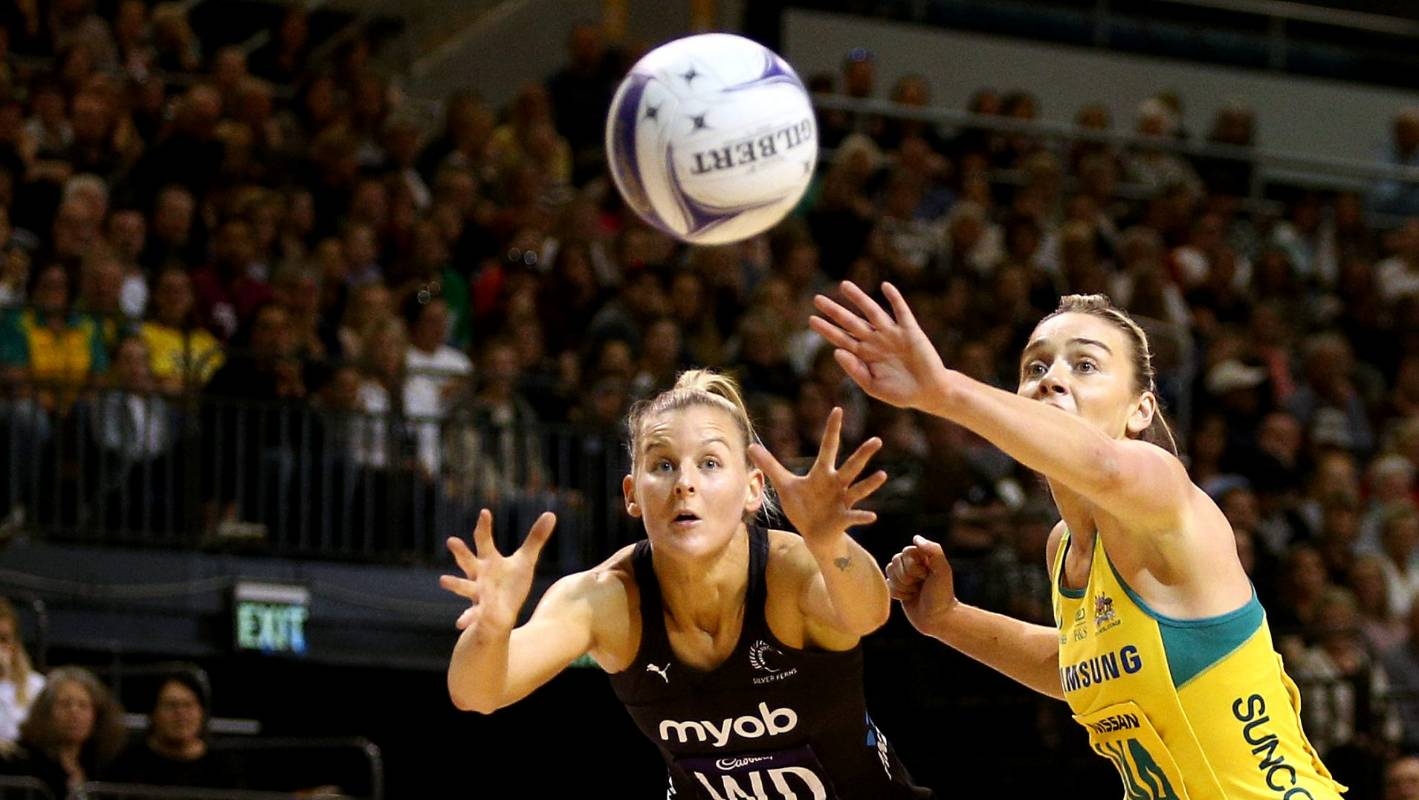 Silver Ferns rally in fourth quarter to beat Australian Diamonds in Constellation Cup