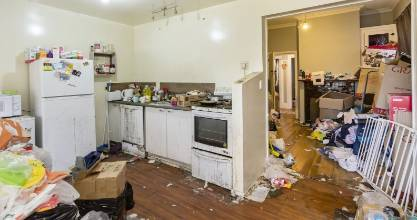 It is believed squatters have left a mess in this Dunedin home, now up for mortgagee sale.