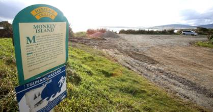 Work at Monkey Island has been halted until an archaeological assessment is done.