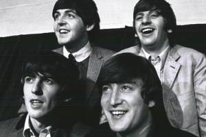 The Beatles amid a September 1964 tour appearance in Detroit.