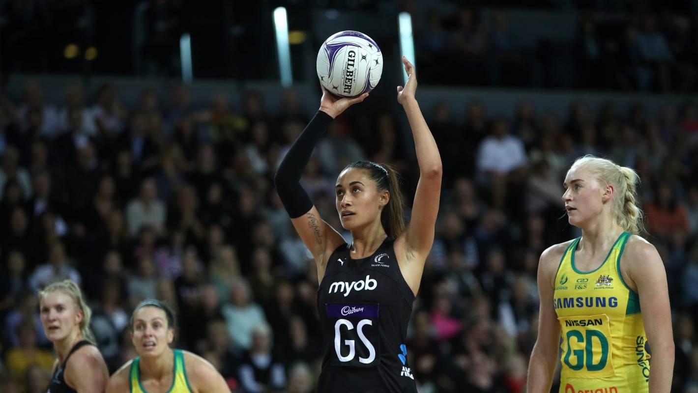 Silver Ferns shooter Maria Folau tearful ahead of loss to Australian Diamonds