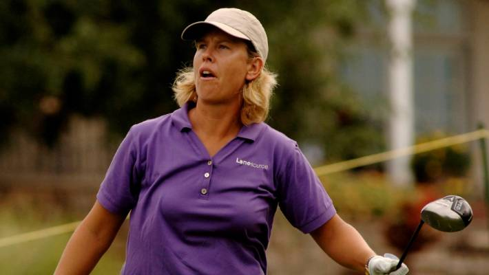 Lee Ann Walker, pictured in 2007, was hit with 58 penalty shots for her caddie helping her line up putts.