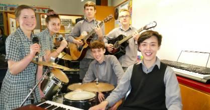 Verdon College pop rock band, from left Michaela Leadley 14, Emmy Roderique 14, Harrison Milne, 14, Issac Beker, 15, ...