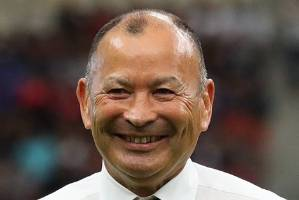 England coach Eddie Jones was all smiles after his side powered through to the World Cup semifinals.