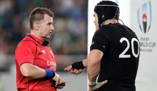 All Blacks v Ireland: Referee Nigel Owens perplexes fans for yellow carding Matt Todd