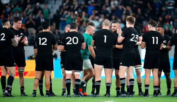 All Blacks v Ireland: Teams form guard of honour to send off rugby great Rory Best