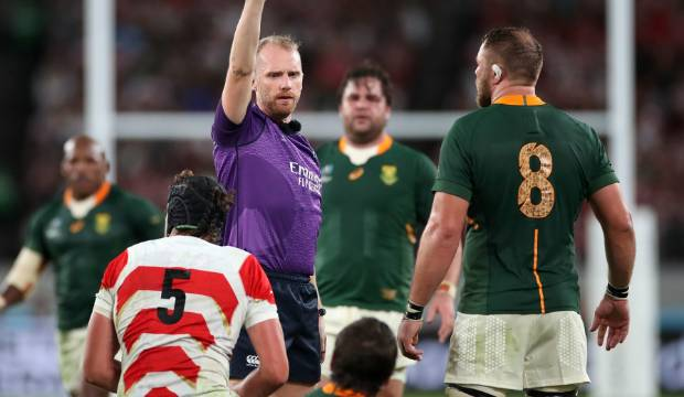Rugby World Cup: Referee Wayne Barnes under fire again with South Africa unhappy despite win over Japan
