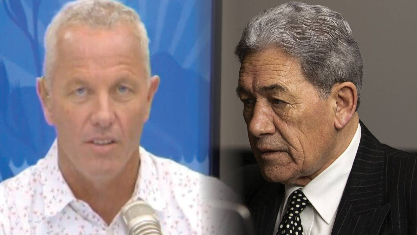 Winston Peters hits back at The AM Show's Mark 'Mr Flash White Teeth' Richardson