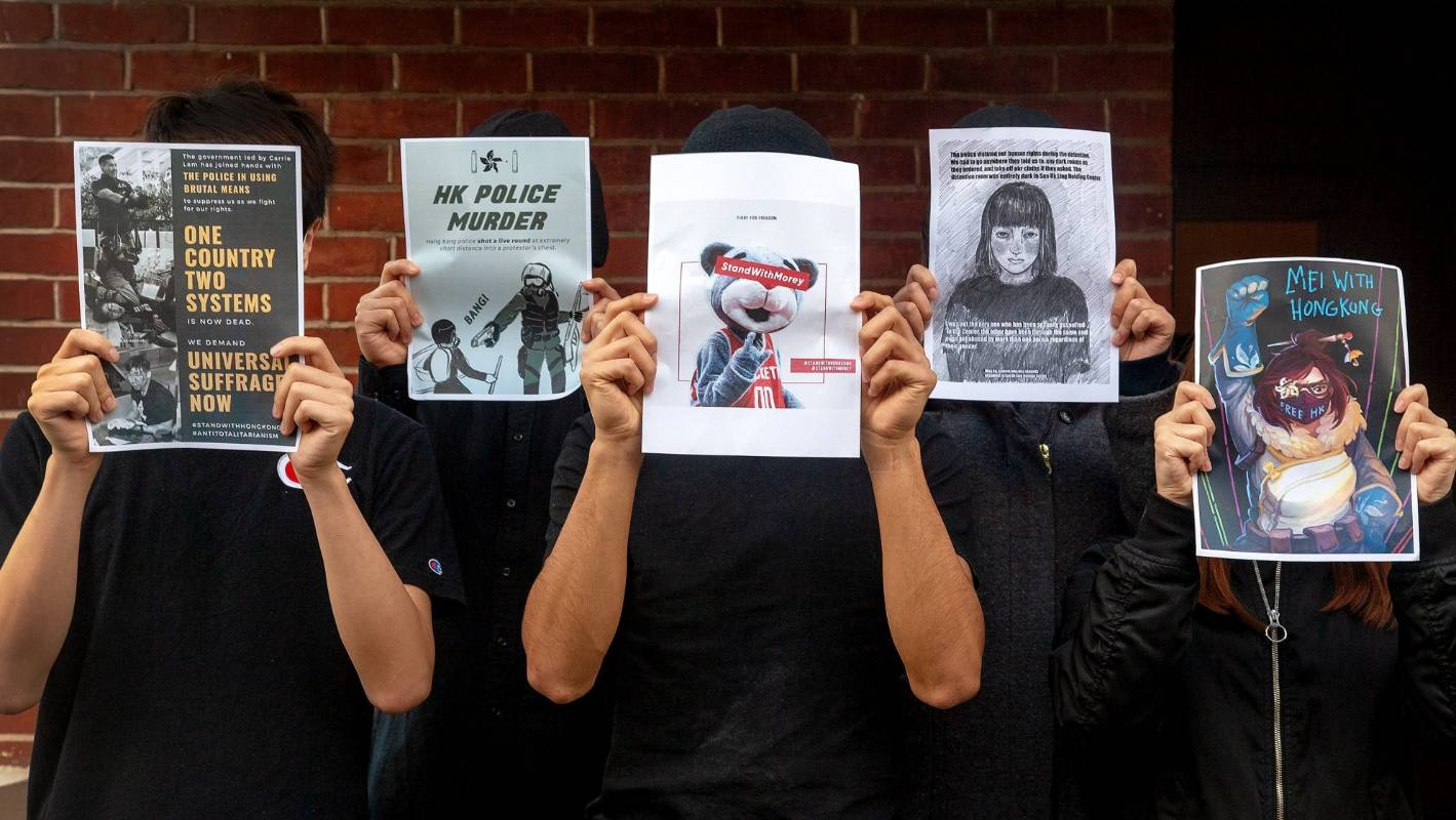 Posters depicting Hong Kong protests removed by Massey University within 12 hours