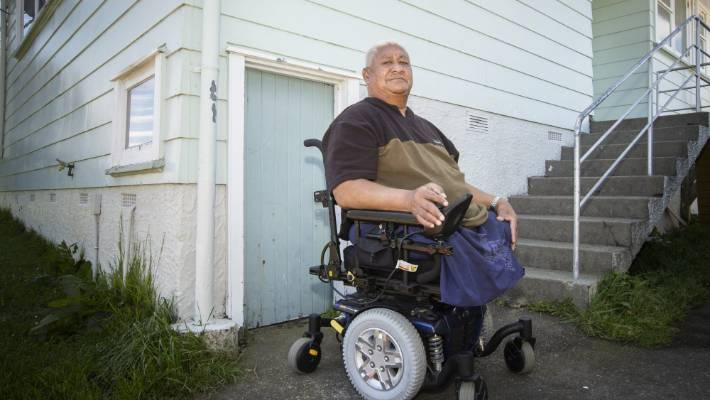 Before his operation, Pusa Finau says he did not think about how people with disabilities navigated footpaths, crossings, shops and homes.