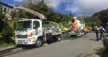 One person has been seriously injured after a workplace accident in Karori