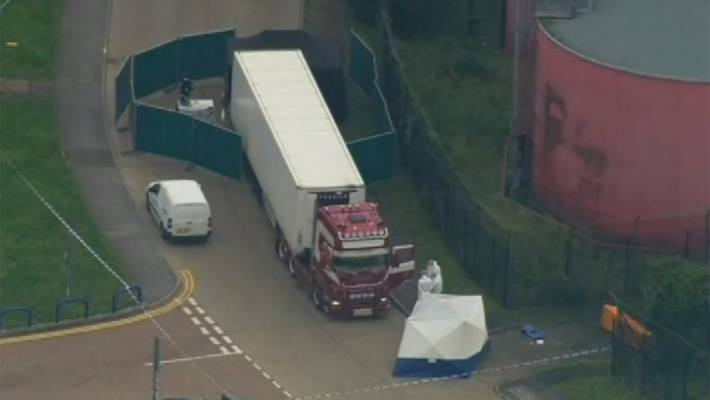 Bildergebnis für United Kingdom: 39 bodies discovered in truck containers