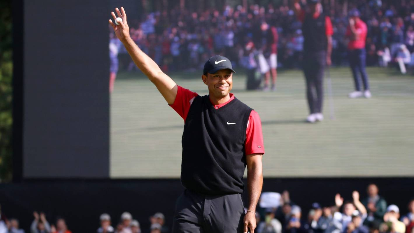Tiger Woods wins record-equalling 82nd PGA Tour event at ZOZO Championship