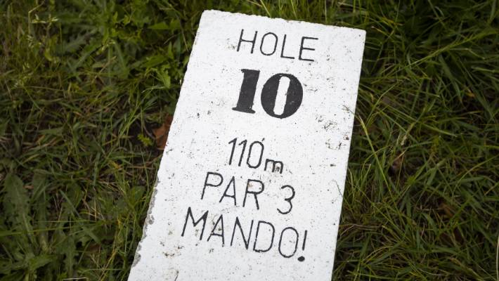 The Ascot  Disc Golf Course at QEII has opened with modest tee markers and baskets. Organisers hope donations will fund upgrades. Mando! is the name of the hole.