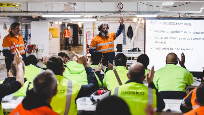 Mates In Construction is a training and support programme for workers in the construction industry.