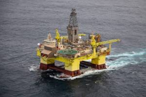 A drilling rig commissioned by oil giant OMV off the coast of Taranaki. (File photo)