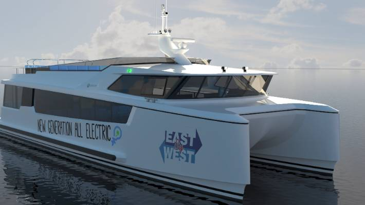 It is believed East by West's electric ferry will be the first fully electric commuter ferry in the Southern Hemisphere. The finishing touches are being put on many of the major components which will soon be assembled.