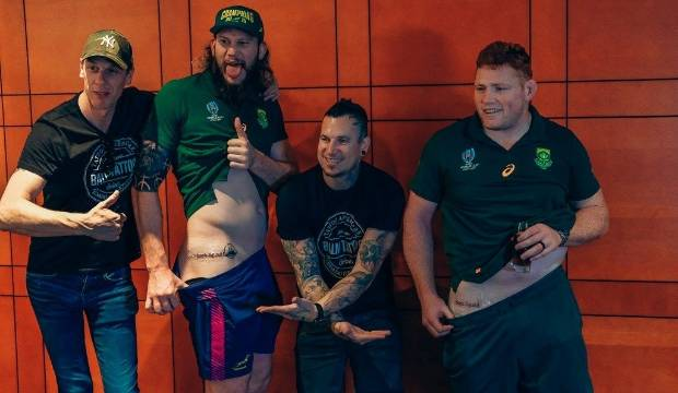 South Africa's 'bomb squad' commemorate Rugby World Cup victory with new tattoos