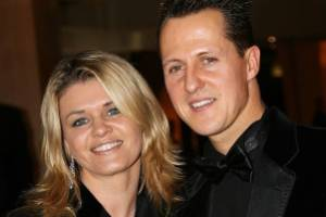 F1 legend Michael Schumacher alongside his wife Corinna before his tragic accident.