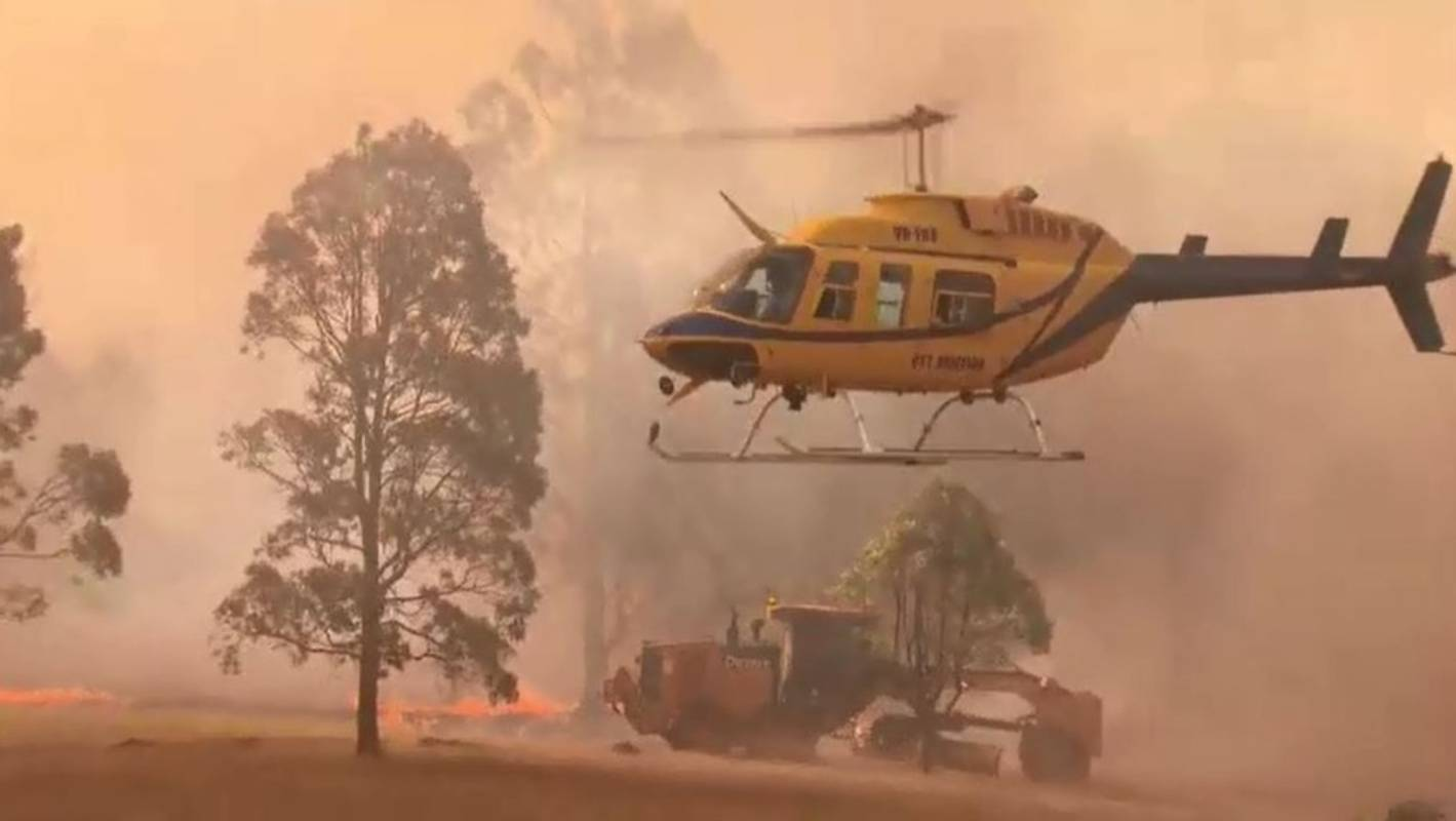 Water-bombing helicopter crashes in Australia