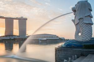 Singapore lies very close to the equator and is very hot and humid for most of the year.