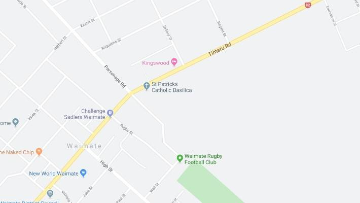 The crash happened around 6.15pm on Timaru Rd between Oxford St and Regent St. The road is closed and the Serious Crash Unit are at the scene.