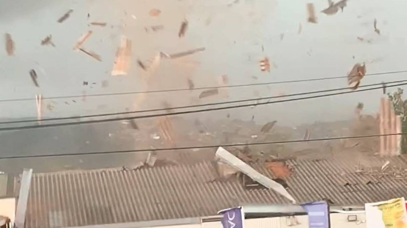Christchurch tornado throws van 15 metres