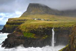 The small village Gásadalur and the Mulafossur waterfall.