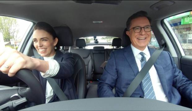 Jacinda Ardern says Stephen Colbert visit exceeded tourism expectations