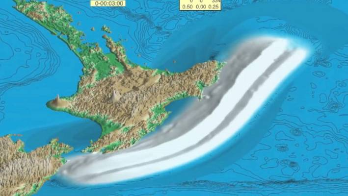 An earthquake from the Hikurangi subduction zone could devestate the east coast of NZ with a tsunami.