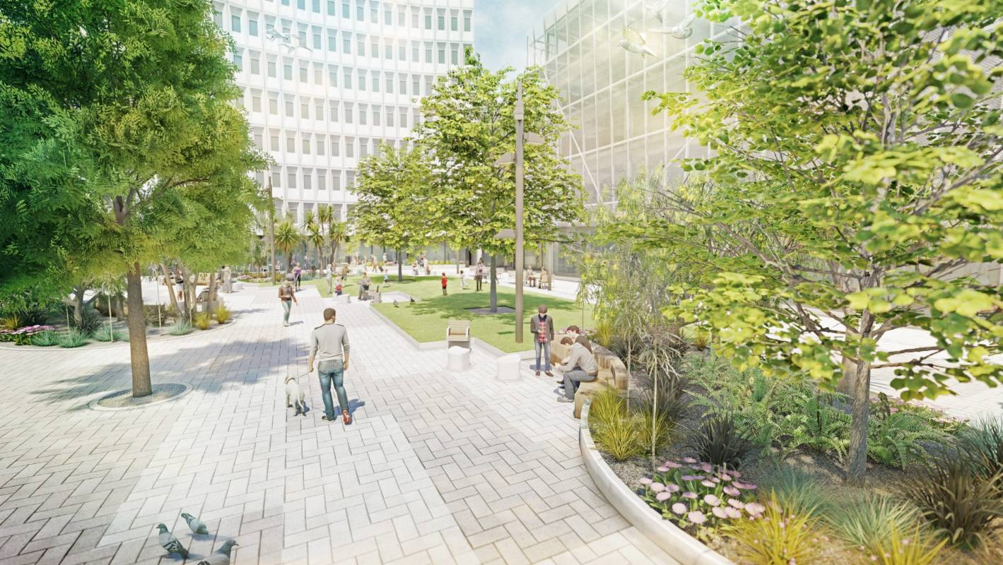 Small section of Christchurch's Cathedral Square to become grass