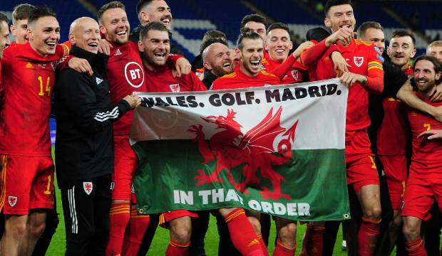 Gareth Bale flies flag for Wales and golf - not Madrid