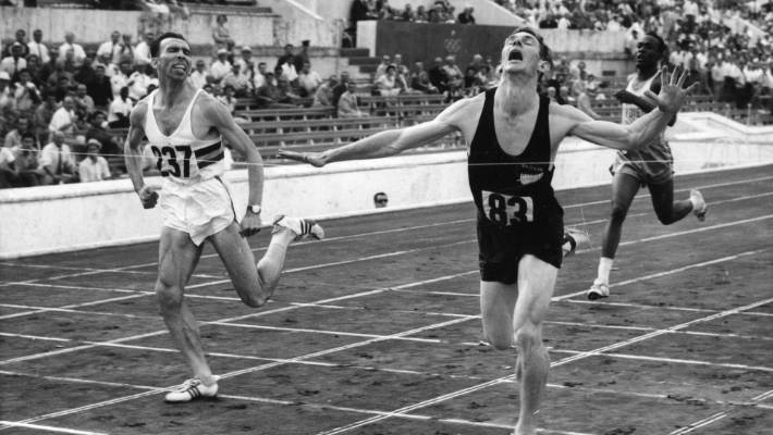 Peter Snell winning the 800 metres at the 1960 Rome Olympics.