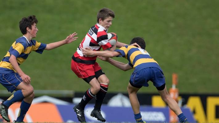 Counties-Manukau take on Bay of Plenty at the Roller Mills tournament.