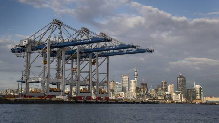 Ports of Auckland has experienced a 15 per cent fall in container volumes