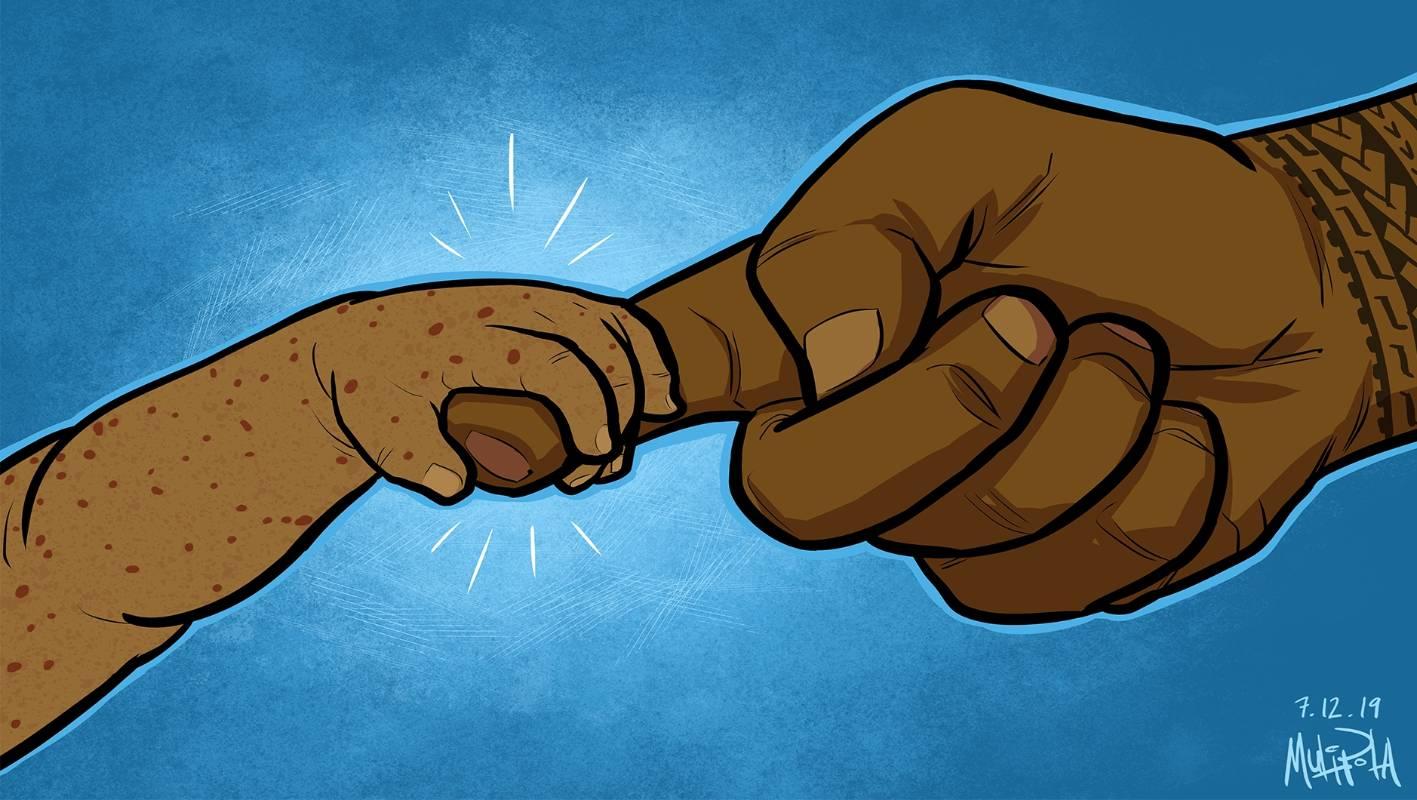Artist Michel Mulipola portrays hope in Samoa's measles crisis