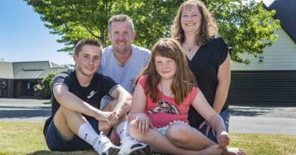 The Byrne family are feeling lucky to be alive this Christmas after their car crashed off the road at 127kmh when dad ...