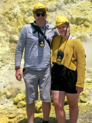 Geoff and Lillani Hopkins were on the island minutes before the eruption, and helped tend horribly burnt patients on the ...